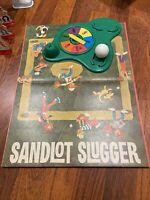 VINTAGE~1968~MILTON BRADLEY~SANDLOT SLUGGER~ACTION BASEBALL~BOARD GAME~IN BOX~