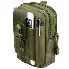 Universal Tactical MOLLE Pouch Utility Waist Carrying Bag, Phone Holder Green