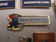 RARE OLD 1998 FRANCE FOOTBALL WORLD CUP MANPOWER METAL PRESS PIN BADGE