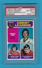 RARE! 1975-76 OPC 209 Bobby Orr Assists Leader! PSA 8.5 NM-MT+ ONLY 4 PSA HIGHER