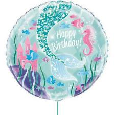 Mermaid Balloon Birthday Party Supplies 45cm Foil Helium Decorations Girls Ocean
