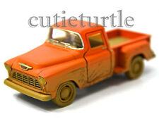 Kinsmart 1955 Chevy Stepside 3100 PickUp Truck 1:32 Diecast Toy Car Muddy Orange