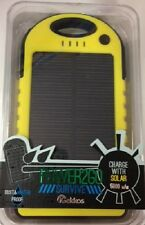 POWER2GO SURVIVE 5000mAh Solar Charger! DUST & WATER PROOF! Dual Outlets!
