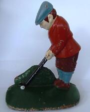 "Vintage Large Golfer  Doorstop 7.0"" x 6.0"" Great Gift"