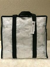 LeSportsac Gabrielle Weekender Large Box Tote White Clear MSRP $150