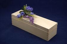 Simple Caja de Almacenamiento de Madera para Decoupage y otras artesanías (28.5x9.5x8)