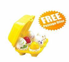TOMY Toomies Hide and Squeak Eggs Educational Shape Sorter Baby FREE POSTAGE