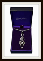 DRAGON KNOT ~ CELTIC PEWTER PENDANT NECKLACE ~ FROM ST. JUSTIN ~ FREE  P&P