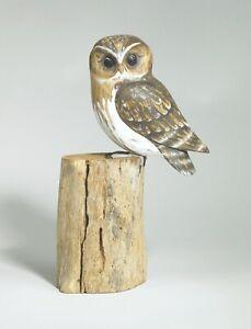ARCHIPELAGO Hand Carved Wooden Birds -Little Owl