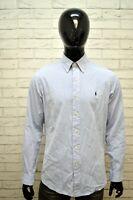 Camicia RALPH LAUREN CUSTOM FIT Collo 16 40-41 Maglia Manica Lunga Cotone Uomo