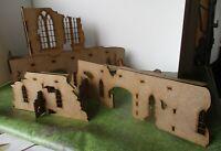28mm Gothic Church Ruin 1 or Sci-fi admin building 40k Scenery Buildings MDF