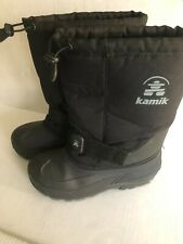 Boys or Girls Kimikl Winter Snow Boots Size 6 Black Used