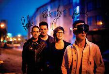 GLASVEGAS Scotish Indie Rock Band Signed 12x8 Photo AFTAL Autograph COA