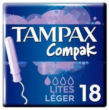 6 x Tampax Compak Lite Applicator Tampon Single 18PK (Pack of 6)