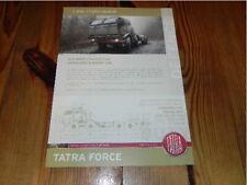 TATRA Force Truck T815-7T3RC1 8x8 1R Militär Military Vehicles brochure prospekt