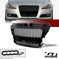 For 08-11 Audi A3 8P Black Rs Honeycomb Mesh Front Bumper Grill Grille Cover Abs