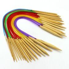 aiguille à tricoter circulaire bambou 2-10 longueur 40cm longueur tige 10 cm art
