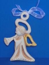 Bomboniera Nascita Angelo Custode Suonatore Ceramica da appendere dipinta a mano