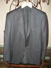 used BRIONI black wool / silk blend checked blazer size 38R Italy $2,995