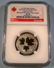 2016 CANADA GOLD GILT SILVER MAPLE LEAF NGC PR 70 S$3 1/4 OZ REVERSE PROOF
