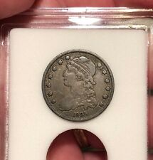 1835 CAPPED BUST QUARTER VF DARKLY TONED SILVER SCARCE DATE US COIN