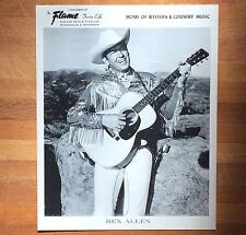 authentic Rex Allen press photo from Mpls Flame Cafe