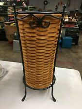 2000 Longaberger Umbrella Basket and Wrought Iron Stand