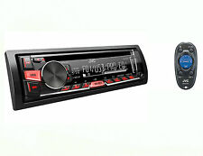 JVC KD-R460 Car Audio Stereo Single Din CD Receiver AM/FM tuner w/Remote