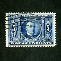 US Stamps # 326 XF Deep color used