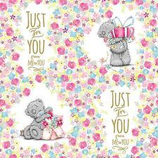 ME TO YOU Just for You rotolo di carta da Regalo Disegno Floreale-Tatty Teddy