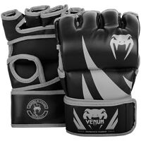 Venum Challenger MMA Gloves Without Thumb Martial Arts Fight Sparring Black Mens