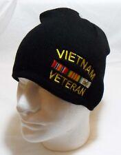 Vietnam Veteran  With Ribbons Beanie Tobogan Winter HAT Cap