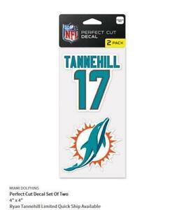 Ryan Tannehill Miami Dolphins 2 Sticker Decal Badge Emblem NFL Football