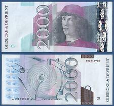 TESTNOTE / WERBENOTE G & D Botticelli 2000 UNC