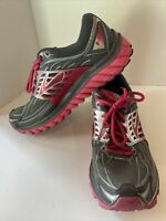 Brooks Glycerin 14 Womens Size 10 Gray Pink Running Athletic Shoes 1202171B093