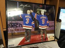 Andy Bathgate & Howell Dual Signed  Retirement waving 16x20 Photo Steiner Nyr