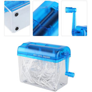 Portable Mini Shredder Manual Paper Documents Cutting Tool for Home Office