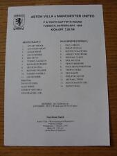 28/02/1995 Aston Villa YOUTH V Manchester United Youth [FA Youth Cup] (singolo SH