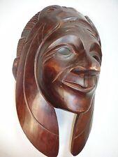 Guatemalan Mayan Tribal  Hand Carving Wood  Mask. Guatemala mayas Folks  Art.