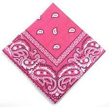 NEU 50x50cm BANDANA in pink PAISLEY MUSTER 100%Baumwolle HALSTUCH Biker KOPFTUCH