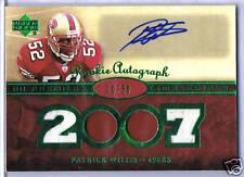 07 UD Premier; Patrick Willis Autograph/Jersey Rookie Card