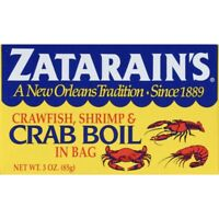 Zatarains Crawfish, Shrimp & Crab Boil in Bag 3 oz Zatarain's Exp Jan 1 2022