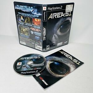Area 51 (Sony PlayStation 2 PS2, 2005) Complete w/ Manual TESTED WORKING