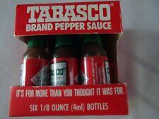 Tabasco Original Pepper Sauce Mini Bottles 1/8 Ounce Pack of 6 Little Real Glass