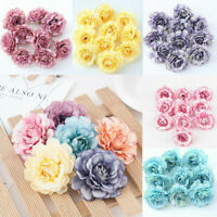 10PCS Artificial Fake Peony Flowers Floral Heads Wedding Bouquet Home Decor New