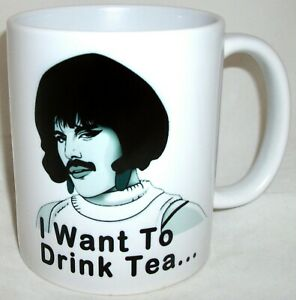 Freddie Mercury I want To Drink Tea Novelty Mug Mothers Fathers Day Queen Gift