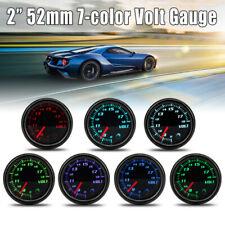 "Universal Auto Car 2""/52mm Diameter Volt Gauge 7 Color LED Voltmeter Volt Gauge"