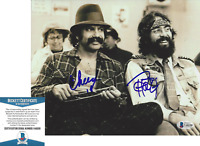 CHEECH MARIN & TOMMY CHONG SIGNED UP IN SMOKE 8x10 MOVIE PHOTO B BECKETT COA BAS