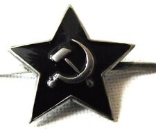USSR Soviet Russian Army Black Star Cap Hat Badge 3 cm New