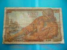 Banconota francese da 20 franchi - Anno 1942